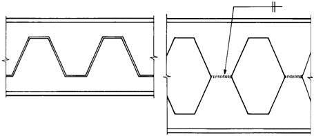 Figure 11.77 Manufacture of a castellated beam