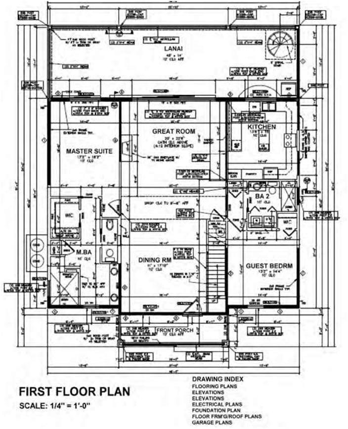 Blueprint - Layout of Construction Drawings | Construction 53