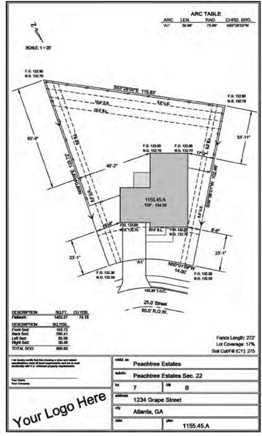 Blueprint layout of construction drawings construction 53 for Building site plan software