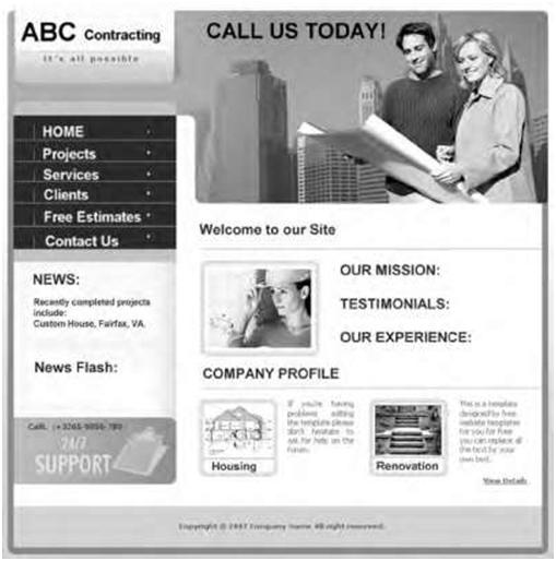construction website sample